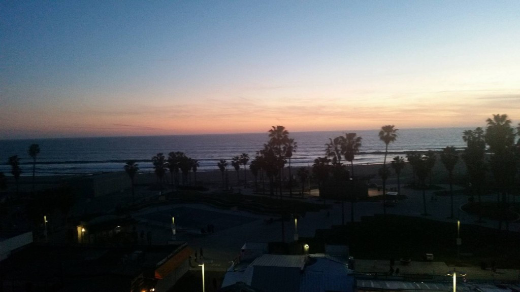 A beautiful Los Angeles sunset from my vantage point on Venice Beach ©ITG