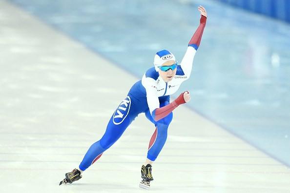 Elizaveta Kazelina won the overall women's title ©ISU