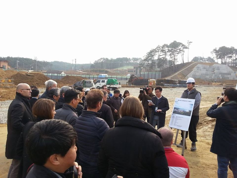 Members of the IOC Coordination Commission were given a tour of the Gangneung venues yesterday