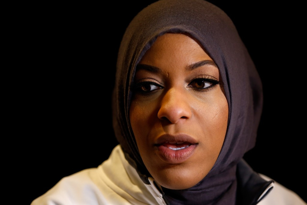 American fencer Ibtihaj Muhammad was asked to remove her hijab at an event in Austin ©Getty Images