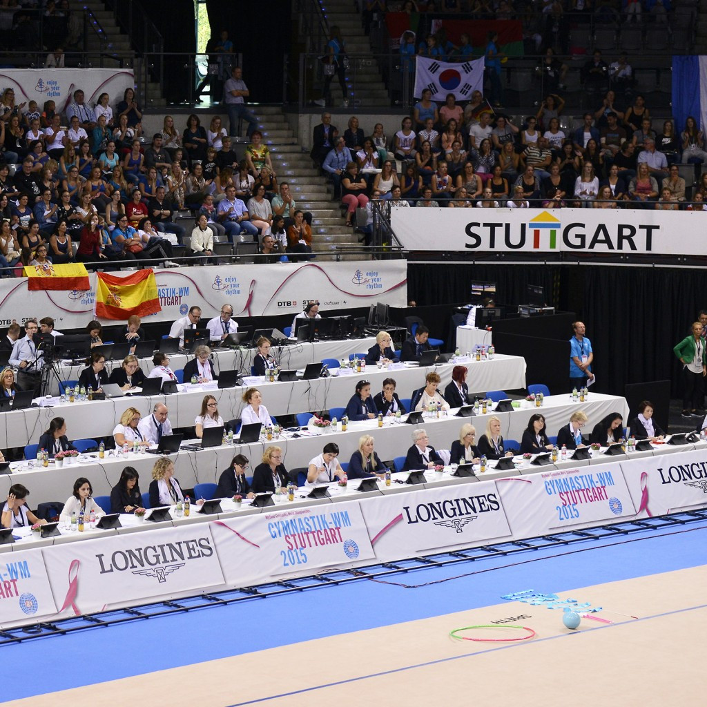 Two judges have been disciplined for biased scoring at the 2015 Rhythmic Gymnastics World Championships ©FIG