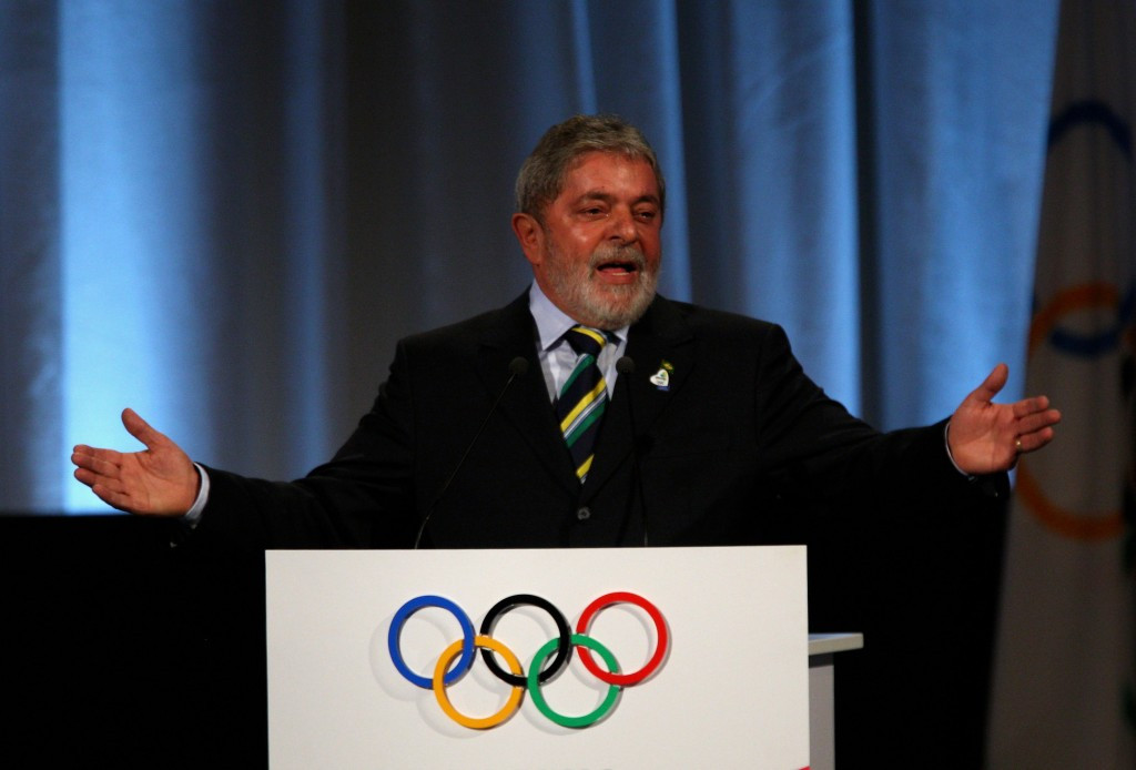 Luiz Inacio Lula da Silva, pictured speaking during a presentation at the 2009 IOC Session in Copenhagen where Rio de Janeiro were awarded the 2016 Olympics and Paralympic Games ©Getty Images