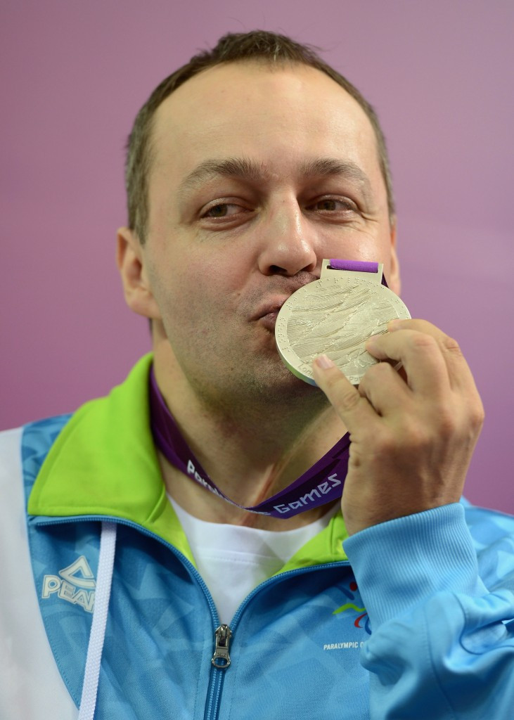 Slovenia's Gorazd Francek Tirsek won the rifle gold on day one of the IPC Shooting World Cup in Bangkok ©Getty Images