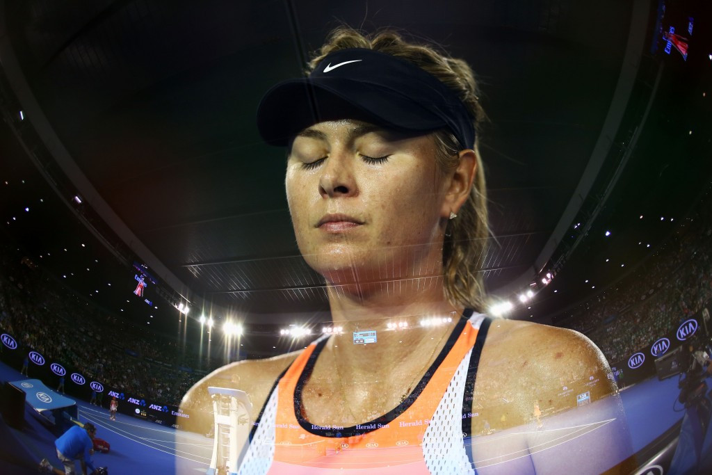 Maria Sharapova has been suspended by the UN following her drugs test failure ©Getty Images