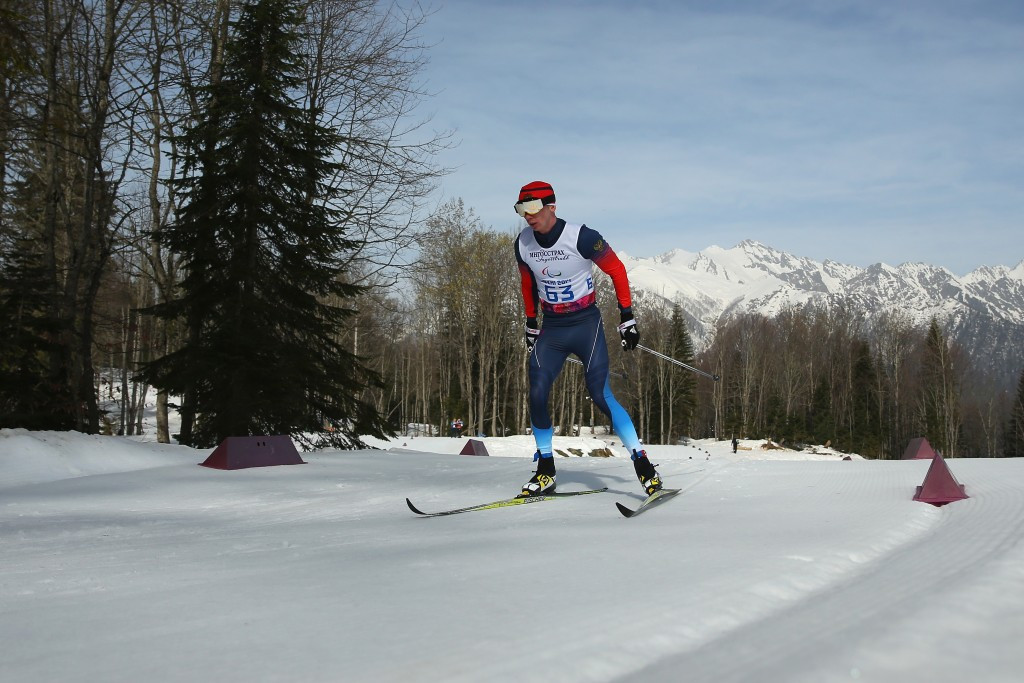 Stanislav Chokhlaev leads the way in the men's visually impaired
