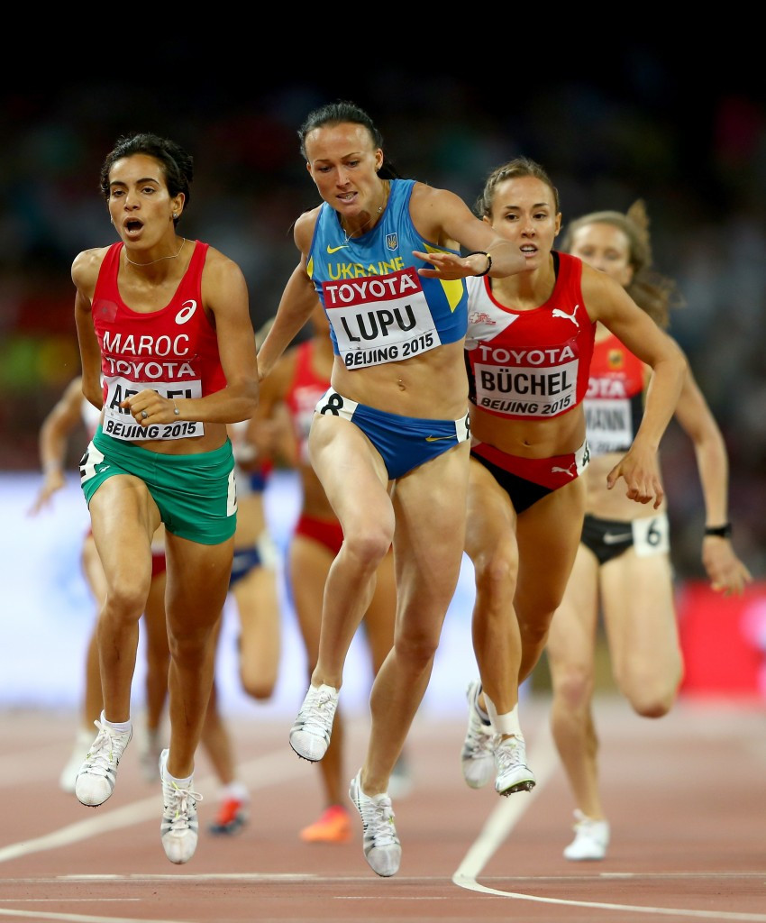 Nataliya Lupu pictured competing at the 2015 World Championships in Beijing ©Getty Images