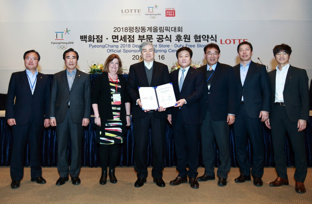 Pyeongchang 2018 signs sponsorship agreement with Lotte Group