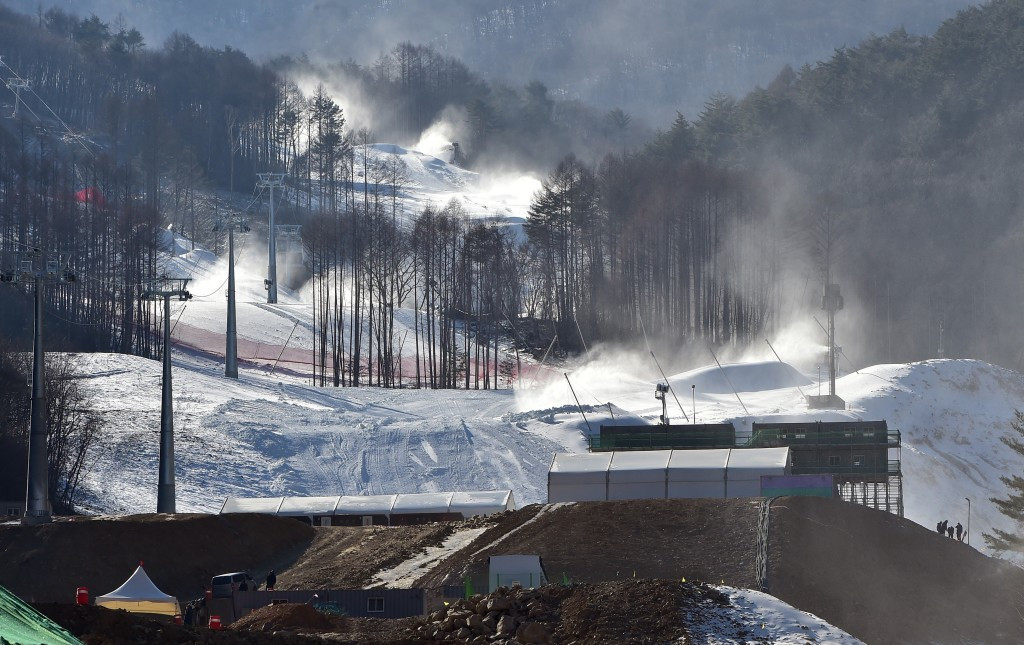 Construction workers at the Jeongseon Alpine Centre have encountered problems with receiving their wages on time