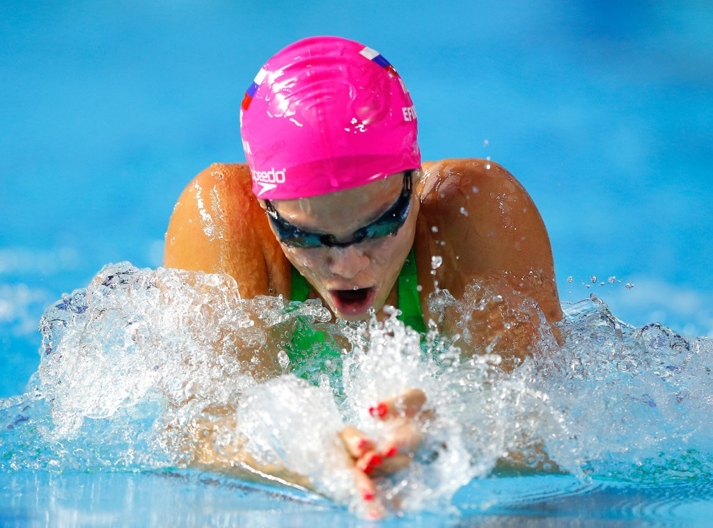Yuliya Efimova could face a lengthy ban from swimming after a positive test for meldonium ©Getty Images