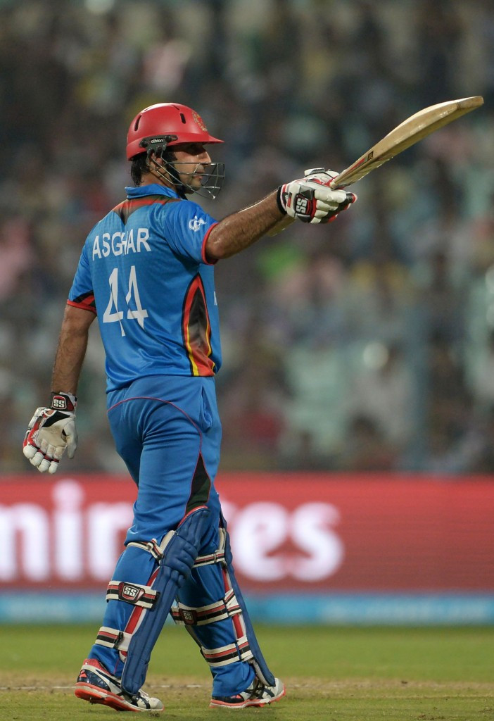 Asghar Stanikzai played an important innings for his side