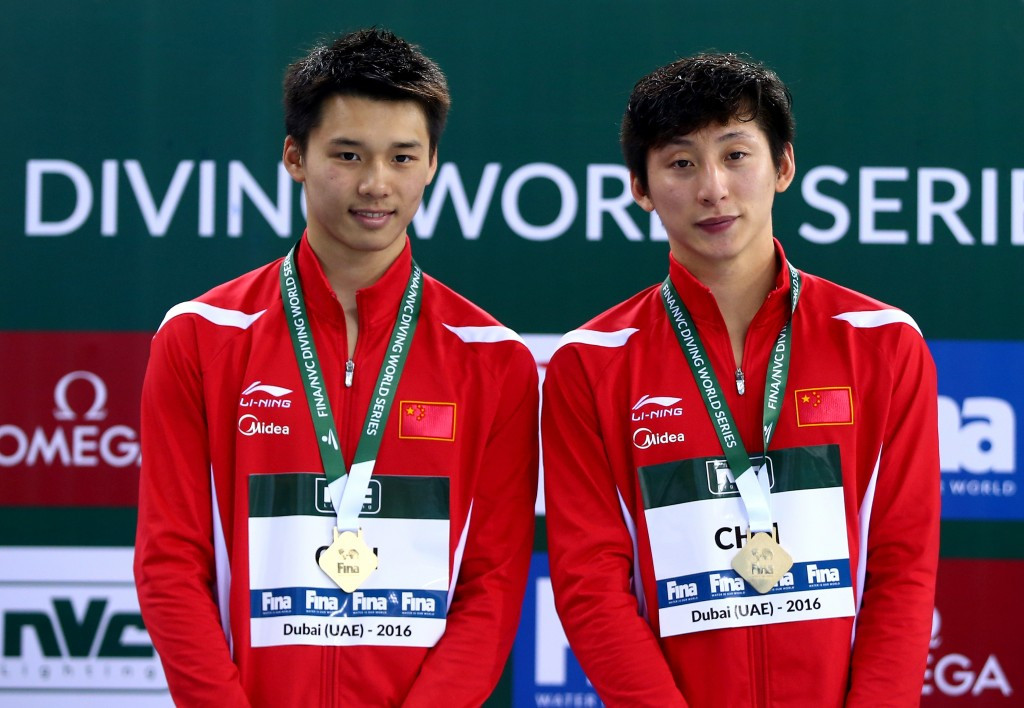China triumph in four synchronised competitions at FINA Diving World Series in Dubai