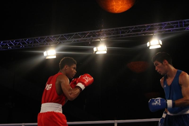 American prospect Shakur Stevenson qualified for Rio 2016 with victory in the semi-final of the bantamweight category at the American Olympic Qualification Event in Buenos Aires ©USA Boxing
