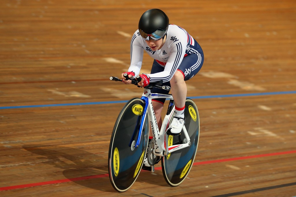 Britain's Megan Giglia has broken two world records to earn double gold at the Championships
