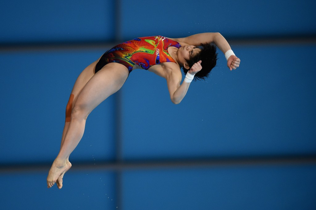 Liu Huixia claimed the women's 10m platform title ©Getty Images