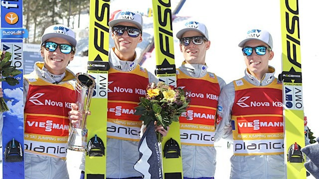 Norway won the final team event of the season in Planica ©FIS