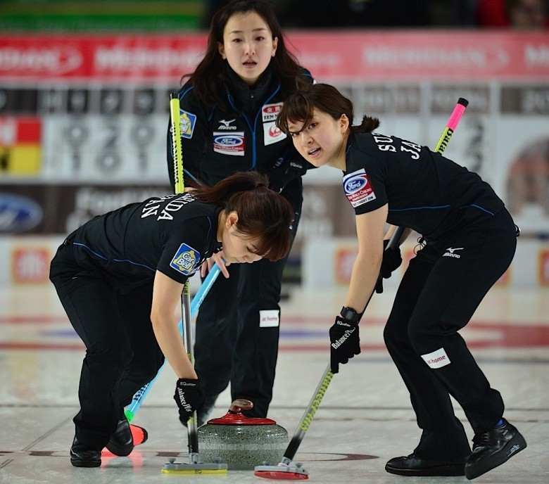 Japan and Russia enjoy double victories as World Women's Curling Championship opens