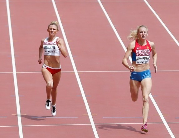 Nadezhda Kotlyarova (right) has reportedly become the latest Russian to fail a doping test for meldonium ©Getty Images
