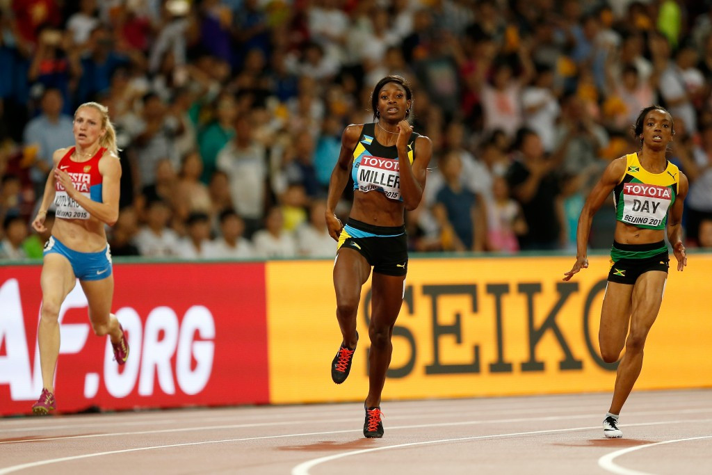 Nadezhda Kotlyarova, left. competing in the semi-finals of the IAAF World Championships in Beijing last year ©Getty Images