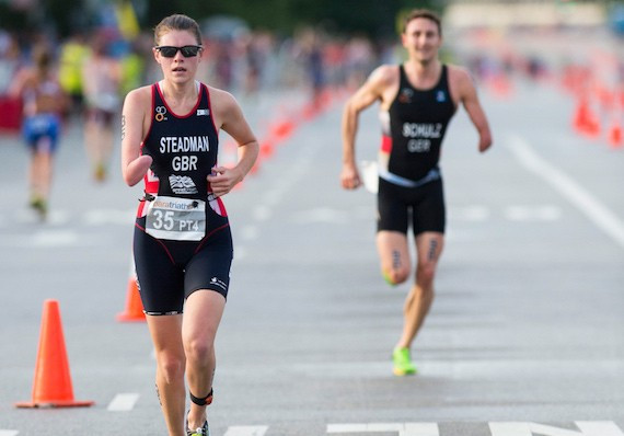 Lauren Steadman secured her Paralympic qualification in Buffalo City ©British Triathlon