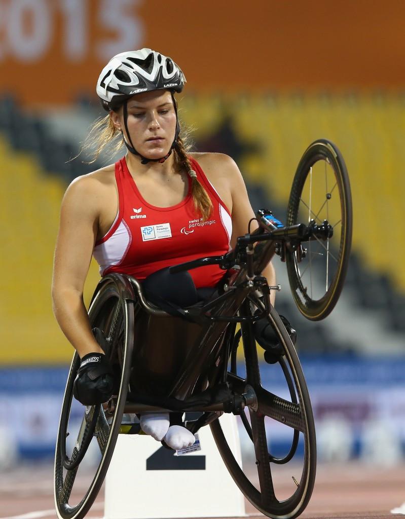 Switzerland's Catherine Debrunner won the women's 200m T53