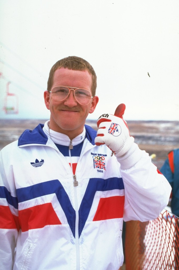 "Eddie ""The Eagle"" Edwards has been named Britain's top winter sports hero ©Getty Images"