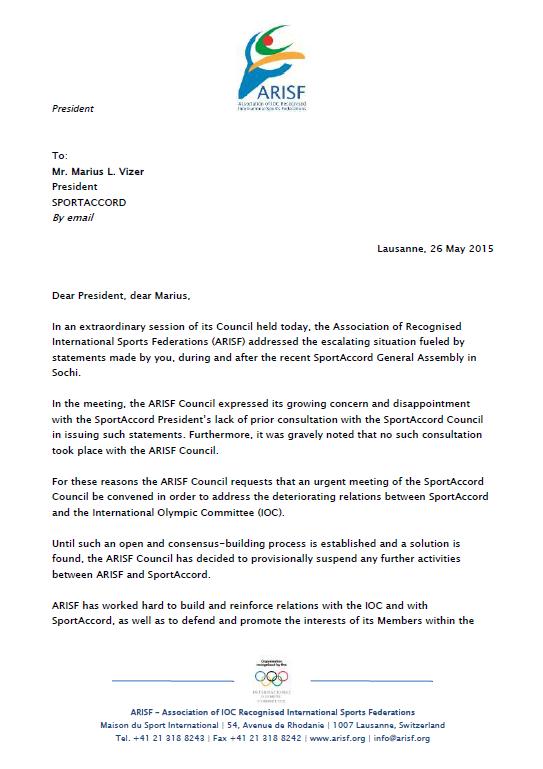 Raffaele Chiulli's letter to Marius Vizer