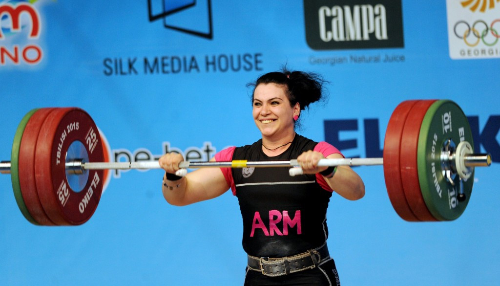 Hripsime Khurshudyan won the women's over 75kg title