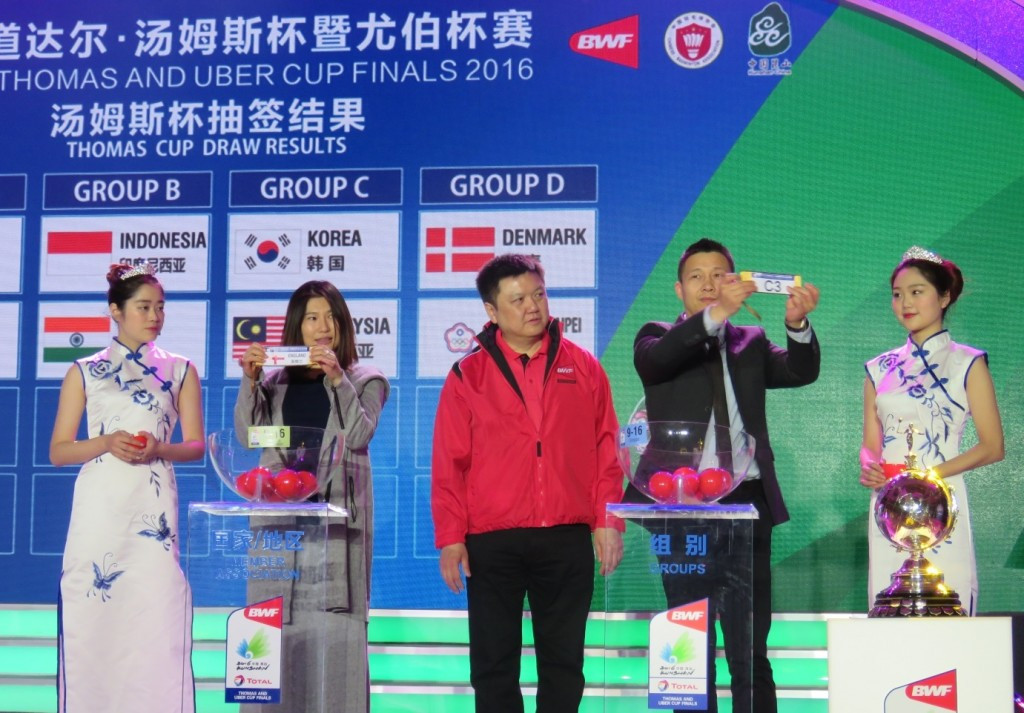 Top seeds and defending champions to clash in Thomas Cup group stage