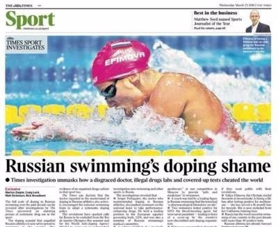 WADA contact FINA after reports tainted Russian doctor involved in swimming
