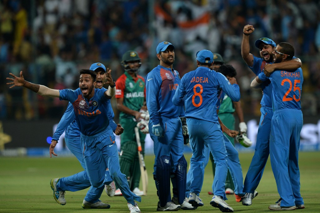 India keep semi-final hopes alive with one-run victory over Bangladesh at ICC World Twenty20