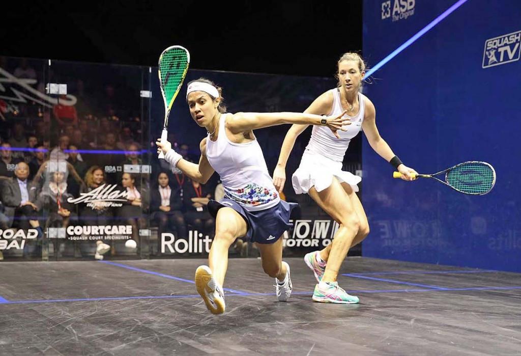 Nicol David progressed in the women's competition