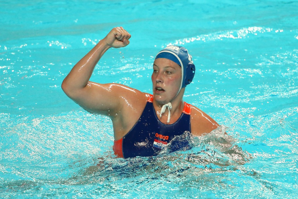 Hosts The Netherlands booked their place in the quarter-finals of the women's Water Polo Olympic Games Qualification Tournament ©Getty Images