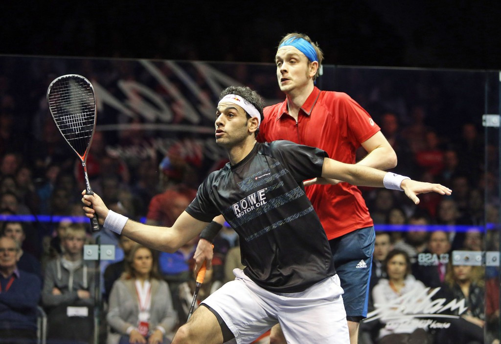 Defending champions Elshorbagy and Serme through to British Open quarter-finals
