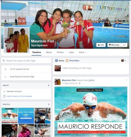 Mauricio Fiol has not removed the pictures from his Facebook page of him celebrating his Pan American Games silver medal, even though he has been stripped of it and given a four-year ban following a positive drugs test ©Facebook