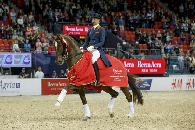 Minderhoud earns narrow advantage after opening round of FEI World Cup Dressage Final