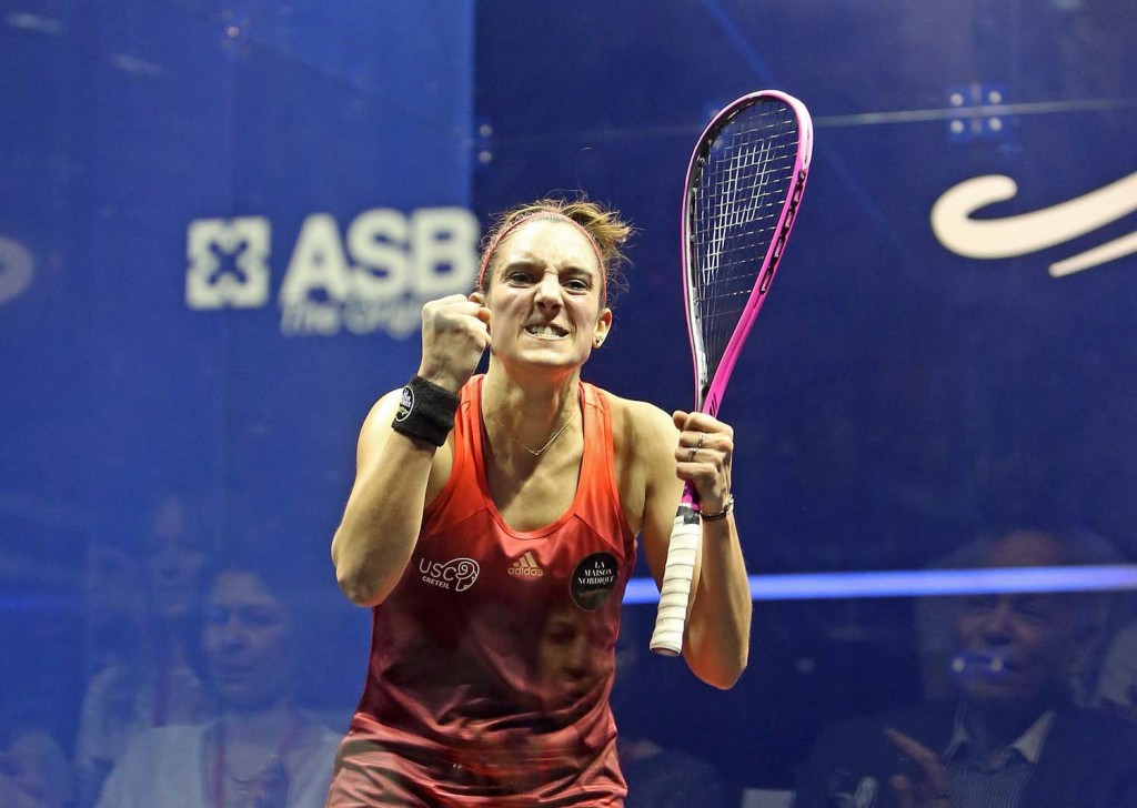 Defending women's champion Camille Serme beat England's world number one Laura Massaro in a repeat of last year's British Open final ©squashpics.com