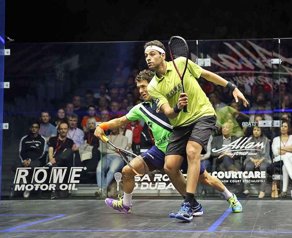 World number one Mohamed Elshorbagy helped ensure Egypt will have three men in the semi-finals of the PSA British Open for the first time in the modern era ©squashpics.com