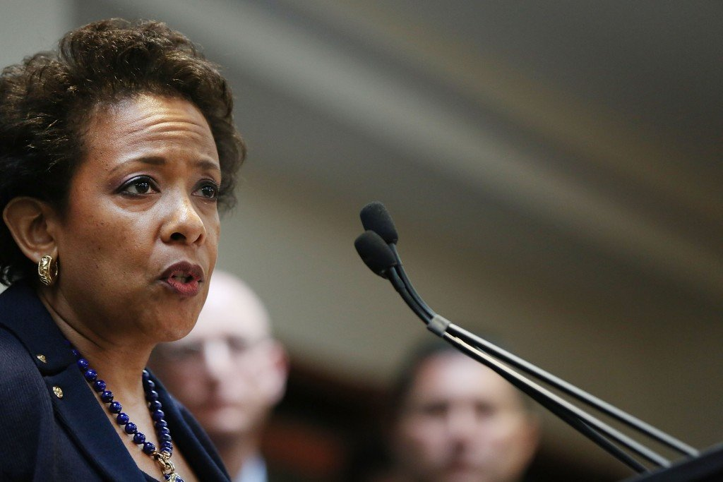 """United States Attorney General Loretta Lynch said defendants had """"corrupted the business of worldwide soccer to serve their interests and to enrich themselves"""""""