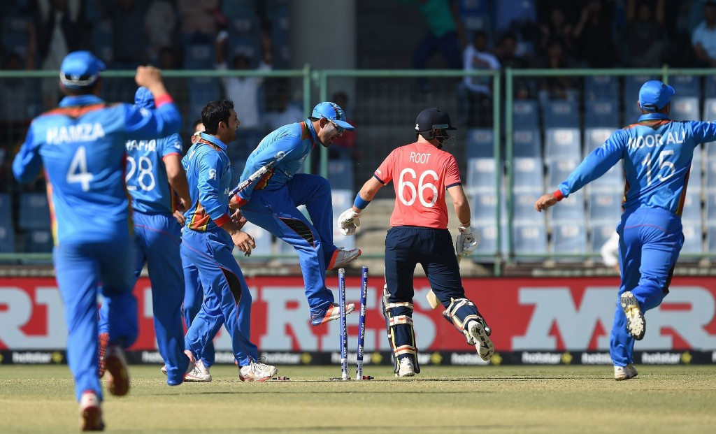 Afghanistan looked to be on their way to springing a huge surprise at the ICC World Twenty20 tournament in India after they took three wickets in an over against England ©Getty Images