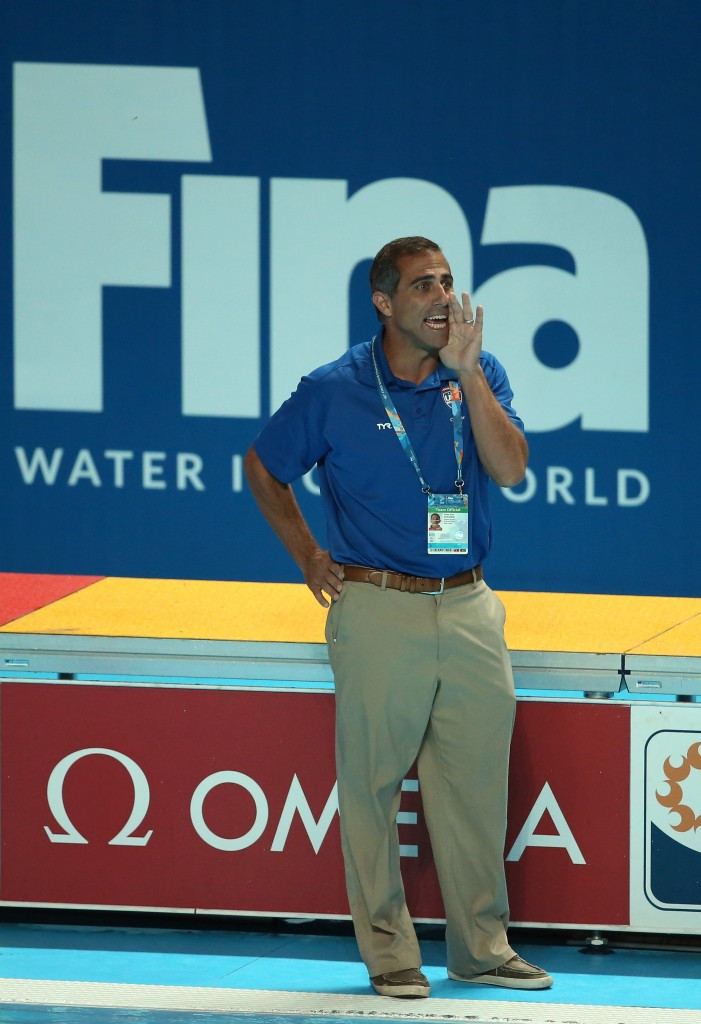 Adam Krikorian was ejected as the United States beat Italy ©Getty Images
