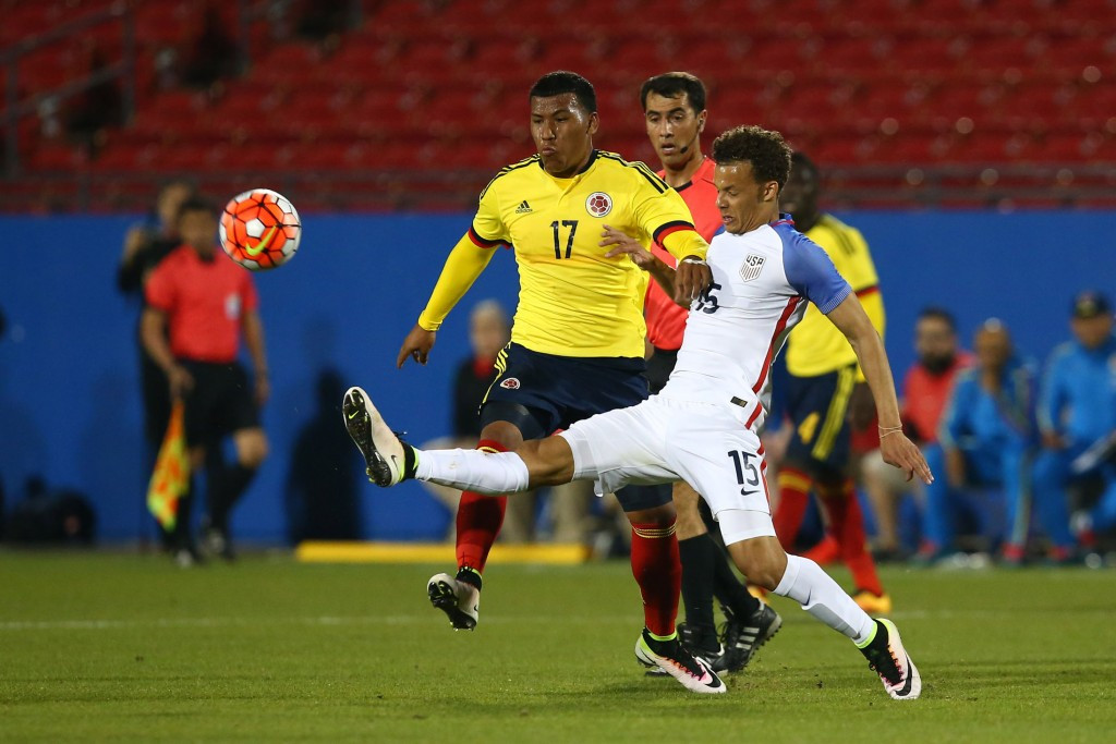 Roger Martínez scored two goals to ensure Colombia qualified for the Olympics for the first time since Barcelona 1992 ©Getty Images