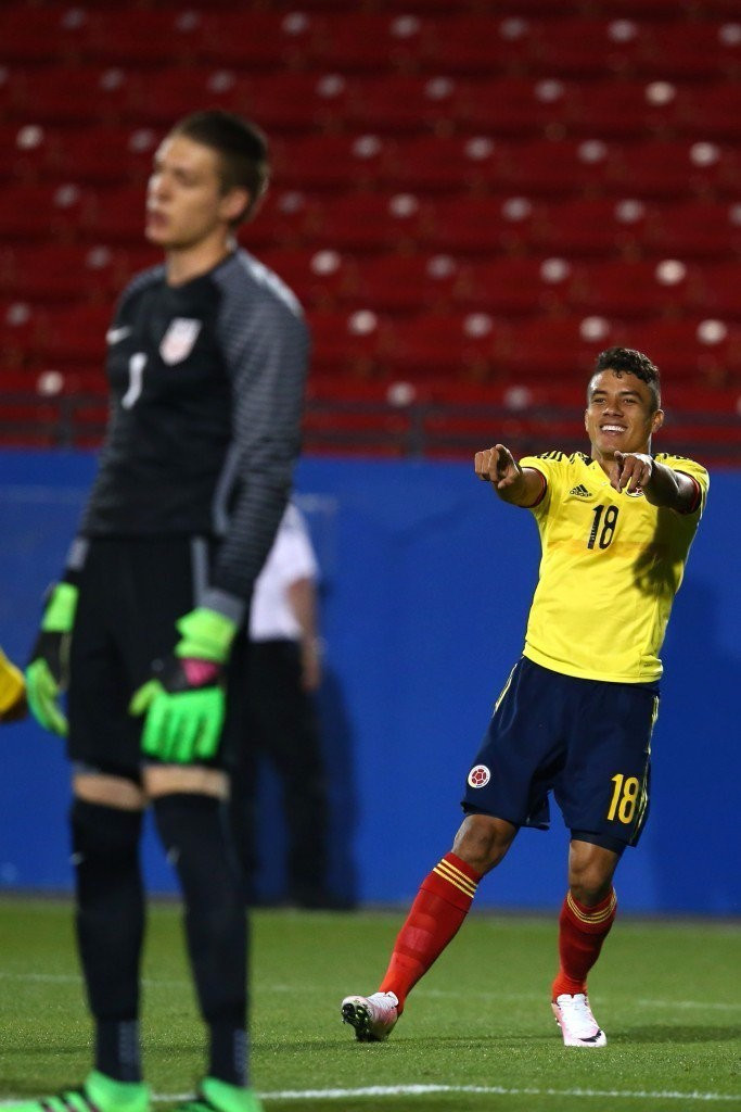 Colombia claimed the final Rio 2016 men's football berth after beating the United States 2-1 at the Toyota Stadium Dallas having drawn the first leg 1-1 in Barranquilla ©Getty Images