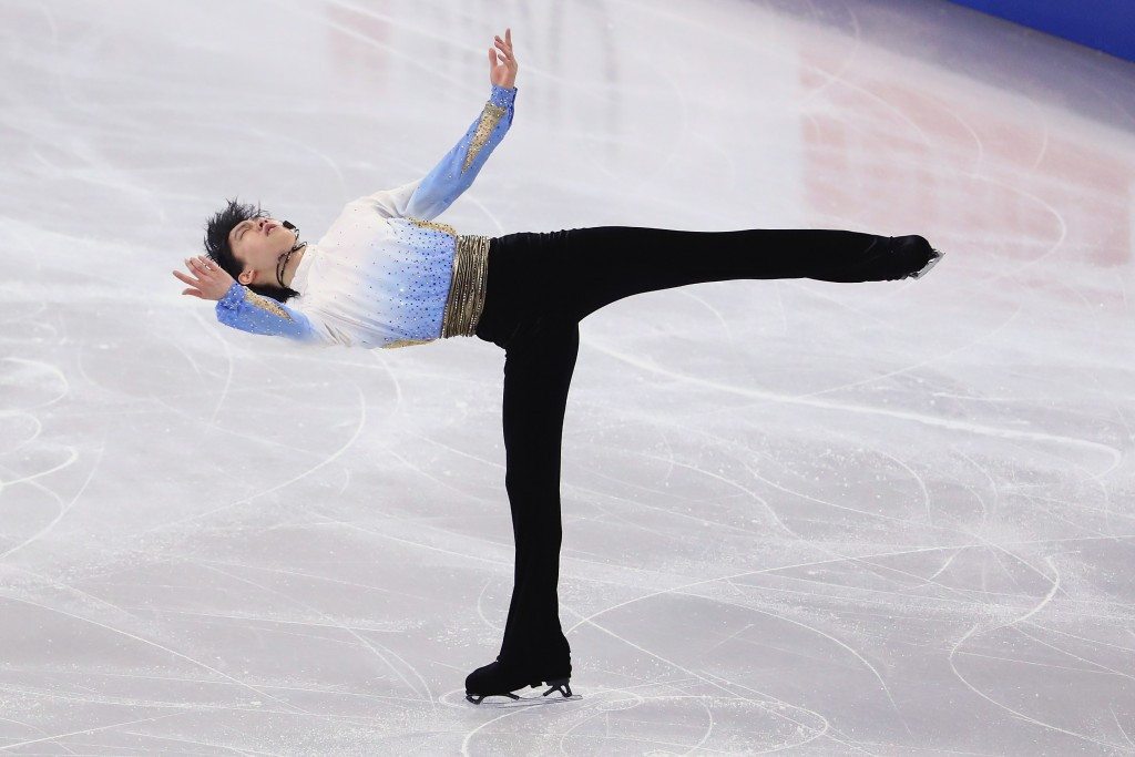 Olympic champion Hanyu takes strong lead at ISU World Figure Skating Championships