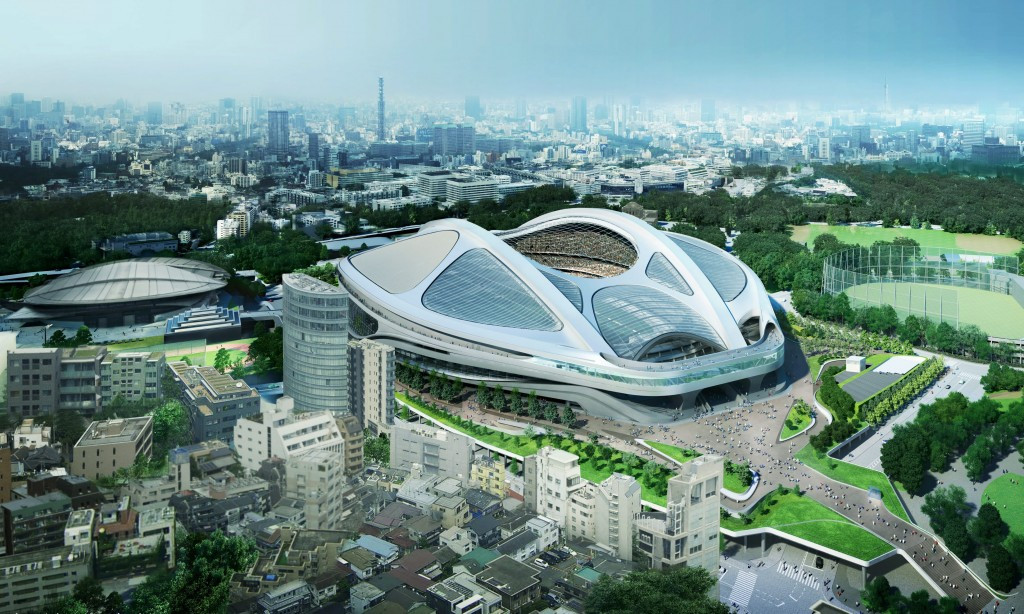 Zaha Hadid's design for the Olympic Stadium at Tokyo 2020 was scrapped following a row over the cost ©ZHA