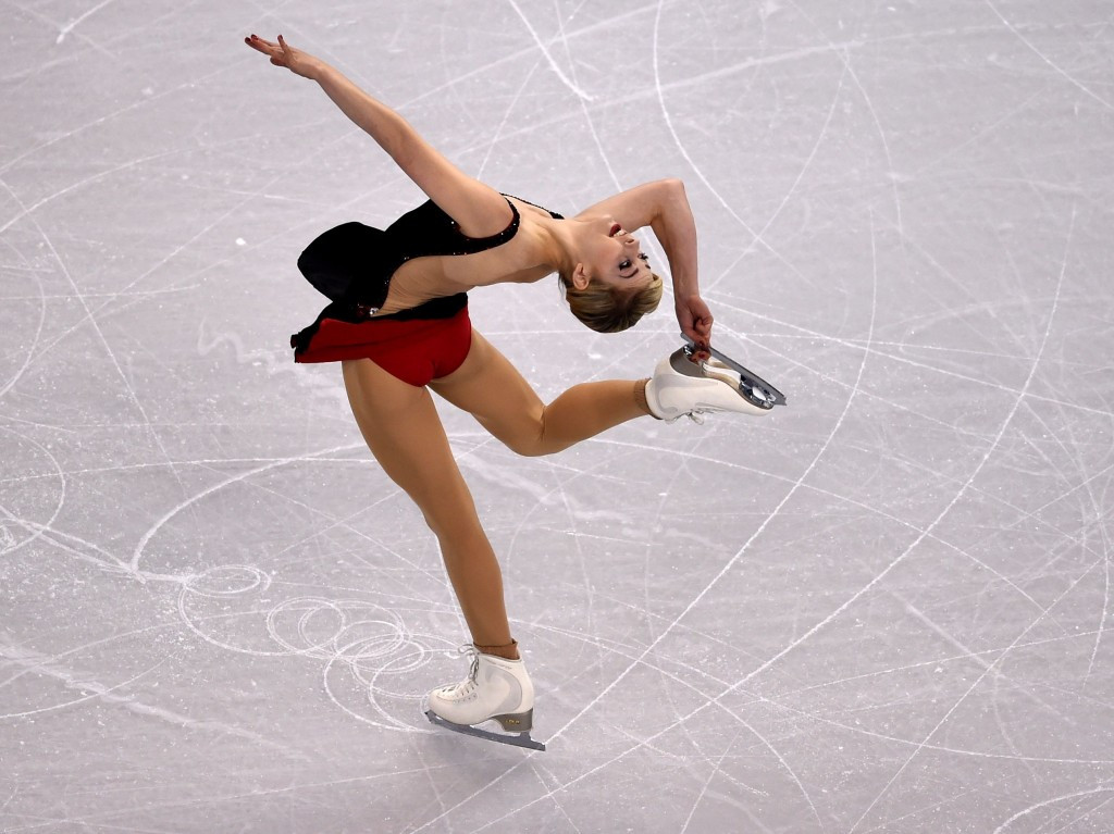 Gracie Gold leads the ladies' competition after the short programme