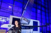 British broadcaster and sailor Hannah White has launched her attempt to break the world record over one nautical mile on water ©Captive Minds