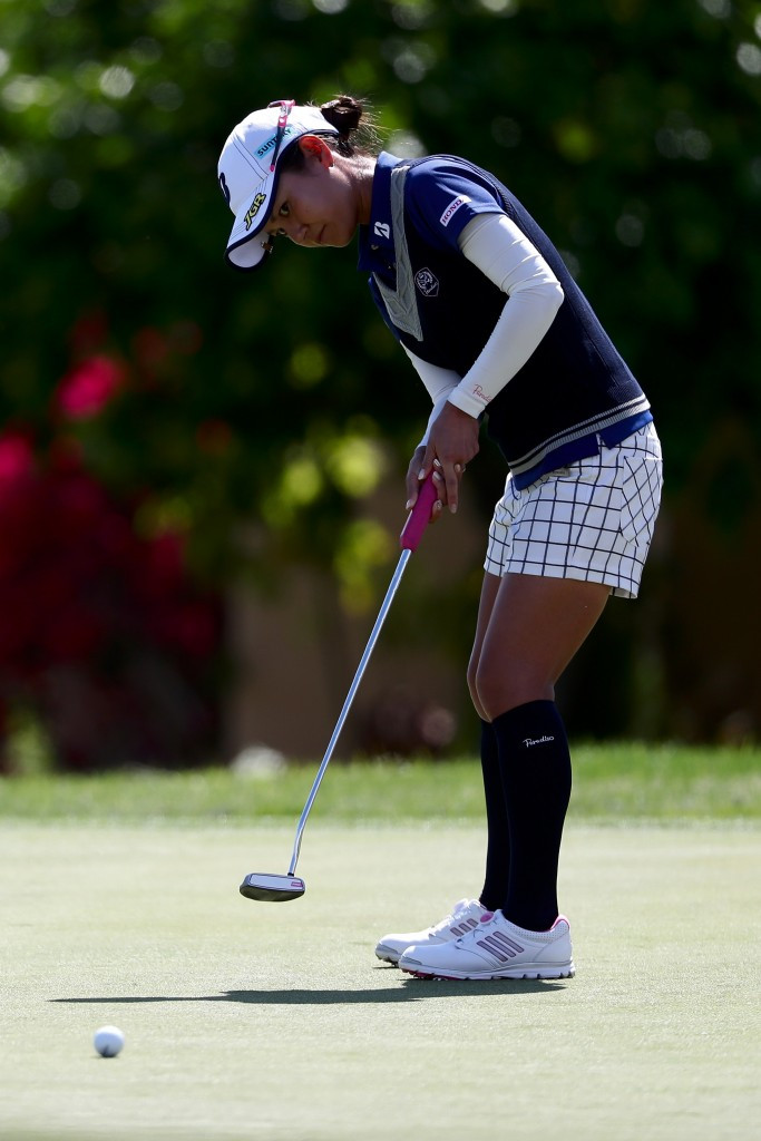 Miyazato and  Munoz share lead after day one of ANA Inspiration