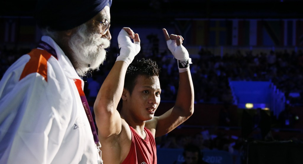 Commonwealth Games silver medallist Devendro Singh Laishram of India suffered defeat to Mongolia's Gan-Erdene Gankhuyag ©Getty Images