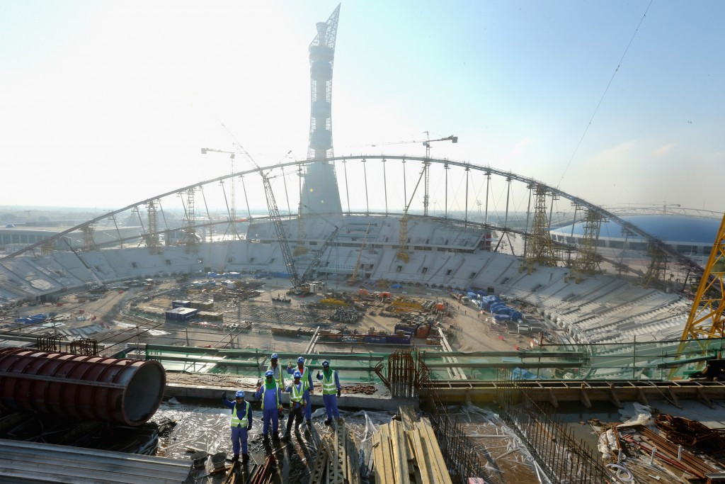 """The IAAF is """"monitoring closely"""" the treatment of migrant workers at the Khalifa International Stadium ©Getty Images"""