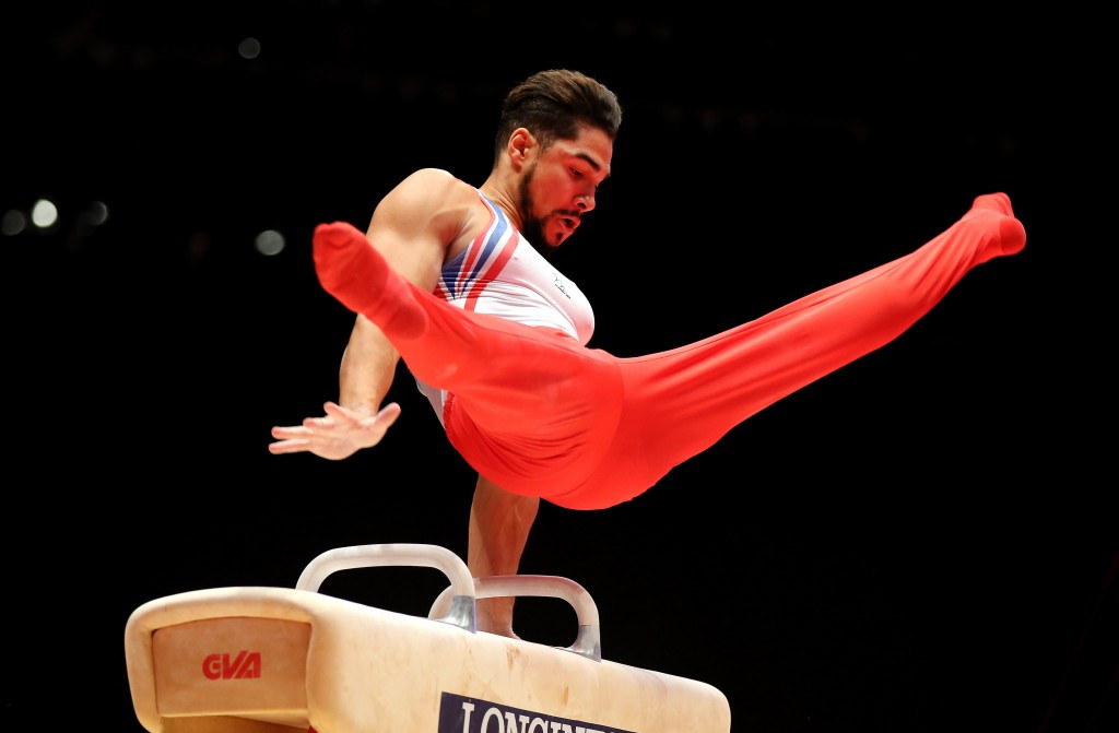 London 2012 Olympic silver medallist Louis Smith won pommel horse gold at the FIG World Challenge Cup in the German city of Cottbus today ©Getty Images